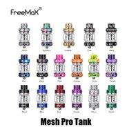 çift damla ucu toptan satış-Otantik FreeMax Mesh Pro Tankı 5 ml Kapasiteli Reçine Metal Karbon Fiber Damla İpucu Alt Ohm Atomizer Orijinal Çift Mesh Bobin Için 100% Hakiki