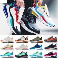 zapatillas sneakers venda por atacado-nike air max 270 react Nuevo producto 2019 zapatillas de running hombre alta calidad BAUHAUS triple negro zapatillas de correr transpirables de moda hombre calzado deportivo