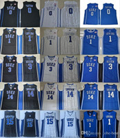 camisolas do ingram de brandon venda por atacado-NCAA Duke Blue Devils Colégio Jerseys Kyrie Irving 1 Jahlil 15 Okafor Grayson 3 Allen Brandon 14 Ingram Jayson 0 Tatum costurado Jerseys