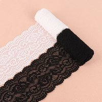 siyah dantel kumaş düzeltme toptan satış-2 Metre 10 cm Süper Geniş Beyaz / Siyah Deldi Dantel Kumaş Trim Kurdela DIY Dikiş Konfeksiyon Düğün Dekorasyon aksesuarları Malzemeleri