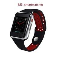 ogs ekranı toptan satış-M3 MTK6261A CPU ile Akıllı İzle Smartwatch 1.54 inç LCD OGS apple PK için kapasitif Dokunmatik Ekran SIM Kart Yuvası Kamera PK DZ09