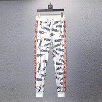 3d print joggers sports achat en gros de-Mode Nouvelle Lettre 3D Imprimé Pantalon Décontracté Hommes Sports Jogger Pantalon Haute Qualité Couture Couture Section Ruban Personnalité Pantalon Décontracté
