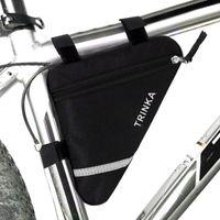 fahrradrohre großhandel-Wasserdichte 1.5L Outdoor Triangle Radfahren zubehör Fahrrad Frontschlauchrahmentasche Mountainbike Beutel Halter Satteltasche