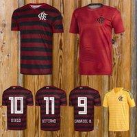 7231bce3986 CR Flamengo 2019 2020 soccer jerseys 19 20 Flamenco away white Camisa de  futebol GUERRERO DIEGO 2019 football shirt maillot