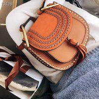Wholesale women messenger bags online - women reusable handbags Bag New Pattern Portable Small Square Package Messenger Badge Chain Packet crossbody purses sling