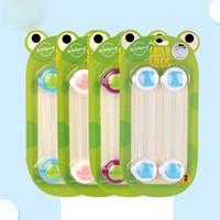 fenster kindersicherheit großhandel-Hot Kunststoff Kindersicherung Kindersicherung Baby-Sicherheits-Baby-Sicherheits-Fenster-Türverriegelungen Kühlschrank Schloss für Kind