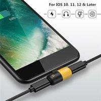 adaptateur prise jack achat en gros de-Câble adaptateur chargeur audio mini 2 en1 pour XS Max XR X 7 8 Plus IOS 12 pour prise de charge pour écouteur AUX (L0926