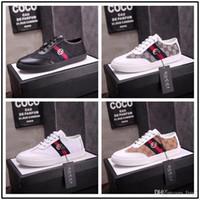 ingrosso scarpe da uomo superficiale-iduzi uomini sneakers donna nuovi arrivi fashion lace-up nero / bianco scarpe da donna solido cucito superficiale scarpe di tela casual donne