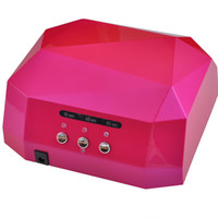 ingrosso gel di luce rosa-2019 I più nuovi 36w Gel Nail Machine Ccfl Uv Led Lampada per asciugare il chiodo Essiccatore Gel Nail curare Polacco Light 220-240v Diamond Pink T190625