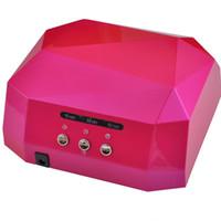 geles de luz rosa al por mayor-2019 Más reciente 36w Gel Nail Machine Ccfl Uv Lámpara Led para secado de uñas Secador de gel Gel de curado de uñas Polaco Luz 220-240v diamante rosa T190625