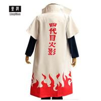 personagens traje venda por atacado-Naruto Yondaime Hokage Caráter Robe Tema Traje Terno Das Mulheres Dos Homens Cosplay Roupas Roupas de Palco Frete Grátis