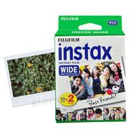 простые пленки оптовых-Brand New Instax Wide Film Plain Edge Twin Packs (20 Photos) for Instant Photo Camera Instax 200 210