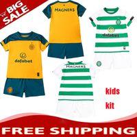 kits de futebol marrom venda por atacado-TOP 2019 2020 Glasgow Celtic Crianças Kit Camisa de Futebol 19 20 FC Celtic Crianças CASA LONGA BITTON BROWN CHRISTIE ROGIC Camisa De Futebol