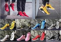 Wholesale euro shoes for sale - Human Race Hu trail casual Shoes Men Women Pharrell Williams Yellow noble ink core Black Red outdoors Shoe big Euro