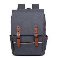 laptop bag mulheres 17 polegadas venda por atacado-Mochila Laptop Resistente à Água Se Encaixa até 17-Inch Laptop Mochilas de Viagem Saco de Escola Daypack para Homens e Mulheres