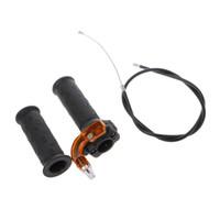 quads schmutzfahrräder großhandel-Hochwertige Dreh Gas Beschleunigergriff + Kabel Für 47cc 49cc Mini Dirt Bike Quad Tasche