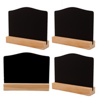 Wholesale wooden study room for sale - Group buy Creative Two Sided Small Blackboard Base Writing Boards Practical Arts And Crafts Wooden Hotel Bar Home Decoration Convenient hxC1