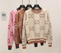ingrosso maglione allentato per le donne-2019 maglione caldo europeo e americano jacquard Pullover maglione lavorato a maglia lettere sciolto fondo autunno e inverno donne