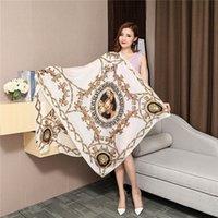 blumige dosen großhandel-Beliebte europäische Markendesigner entwarfen den Vierjahreszeiten-Blumendruck als Geschenkschal und Schal für Damen 180 * 90cm
