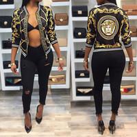 patlama modeli ceket toptan satış-2019 patlama modelleri dijital konumlandırma baskı uzun kollu tasarımcı ceket ince ceket kadın fabrika toptan