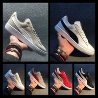 chaussures occasionnelles professionnelles achat en gros de-Designer shoes PUMA men women Les chaussures pour femmes Smash Platform SD Blé noir Vert Chaussures de sport Fenty Cleated Creeper Chaussures professionnelles Outdoor T