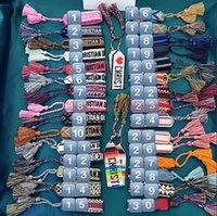 modedesigner armbänder großhandel-Marke Modeschmuck Für Männer Frauen Handgemachte Baumwolle Signture Stickerei Designer Armband Gewebt Armreif Stoffe Luxus Schmuck R3