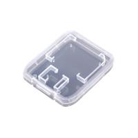 estojo de armazenamento sdhc venda por atacado-Acessórios de cartão de memória Caixa de cartão de memória SD SDHC Titular Protector caixa transparente de armazenamento de plástico transparente Mini caso portátil navio livre