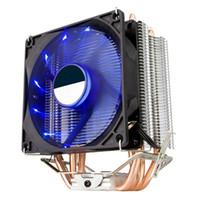 ventiladores de cobre para pc al por mayor-Ventilador silencioso eficiente de ventilador de refrigeración de CPU de PC de tubo de cobre dual de 135 mm para procesador Intel AMD