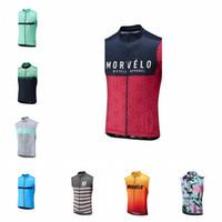 equipo usa ropa al por mayor-2019 Nueva Ropa Ciclismo Morvelo Team hombres ciclismo jersey Verano bicicleta uso chaleco sin mangas transpirable Ropa de bicicleta K052205