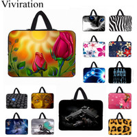 Wholesale 14 inch tablet notebook resale online - 3D Fashion Notebook Computer Bag inch Tablet Netbook Ultrabook Nylon Shell Cover Bags PC Housing Bag