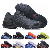 Wholesale art crosses online - 2019 Salomon Speed Cross IV CS Running Shoes black blue orange Outdoor Breathable Men Athletics Mesh Fencing Shoes sneakers