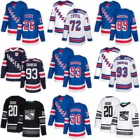 guardabosques jersey kreider al por mayor-New York NY Rangers Parley 2019 ALL STAR Jerseys Mika Zibanejad Chris Kreider Jimmy Vesey Henrik Lundqvist Pavel Buchnevich Ryan Strome