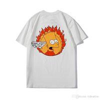 kadınlar beyaz tişörtler toptan satış-Yepyeni Etiket Tişörtleri Ile erkekler Moda komik güneş Baskı pamuk erkekler ve kadınlar hem giymek kapalı / siyah BEYAZ renk marka giysiler boyutu S-XXL