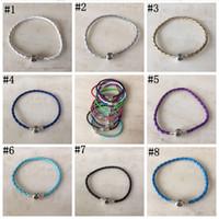 pu diy armbänder großhandel-Pandora Armbänder PU Leder Armband Schnur mit Kette Extender für Charmante Armbänder DIY Schmuck 100 stücke CNY203