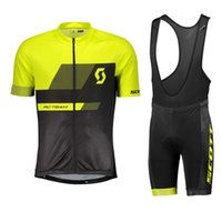 Summer Scott 2018 Men cycling jersey Maillot ciclismo cycling clothing ropa  ciclismo Short sleeve bike clothing Bib shorts Set 82409Y 0df11e6f2