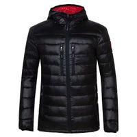 ingrosso giacche di marca d'oca-Giacca invernale Uomo Abbigliamento 2018 New Brand Hooded Parka Cotton Canada Coat Uomo Mantenere caldo giacche d'oca Cappotti moda 7696