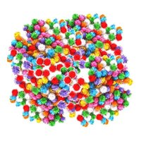 Wholesale puffy toys for sale - Group buy 400Pcs Mini Sparkly Glitter Tinsel Pom Pom Balls Puffy Dog Cat Pet Bird Toys