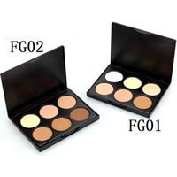 кремовые выделения оптовых-6 Colors  Face Cream Contour Kit  Palette Foundation Base Contour Face Cream Concealer Bronzer Highlighter Set