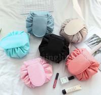 Wholesale korea style travel bag resale online - Magic Lazy Cosmetic Bag New Portable Makeup Bag Travel Pouch Cosmetic Bag Korea Style Drawstring Waterproof LJJS05