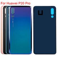 huawei geri değiştirme toptan satış-Yeni Konut Için Huawei P20 Pro Arka Pil Cam Kapak Arka Kapı Konut Case Logo Ile Yedek Arka Kapak