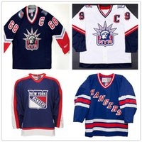 Wholesale Custom Vintage Henrik Lundqvist Wayne Gretzky JAROMIR JAGR New York Rangers Statue of Liberty Hockey Jerseys Stitched CCM Any Number Name