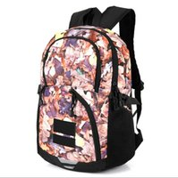 Wholesale canvas mountain bag resale online - 2019 Metal color backpack joint name snow mountain map deciduous backpack bag sports travel bag ins waterproof wallet