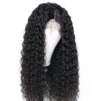 brazilian bakire indian saç toptan satış-Dantel Ön Peruk Tam Dantel Peruk Ön Koparıp doğal saç çizgisi Insan Saçı kıvırcık uzun Brezilyalı Perulu Malezya Hint Bakire Saç Bebek Saç
