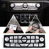 ingrosso tastiere console-Pulsante Car Center Console pannello di copertura Trim per 2018-2019 Jeep Wrangler JL Illimitato