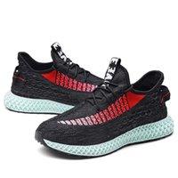 nouvelles chaussures design masculin achat en gros de-2019 Conception Nouveaux Sneakers Hommes 4D Impression Flykniten Respirant Lumière Sport En Plein Air Chaussures de Course pour Homme Confortable Chaussures Hommes
