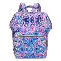 çok işlevli anne çantası toptan satış-Lilly Pulitzer Mumya Sırt Çantaları Renkli Çiçek Baskılı Bezleri Çanta Çok Fonksiyonlu Saklama Torbaları Yüksek Kapasiteli 61 75bc E1