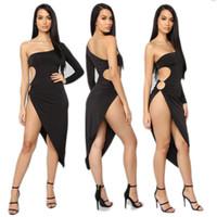 faldas latinas negras al por mayor-Negro mujeres delgadas salón de baile moderna latina Rumba Tango noche llena danza de la etapa espectáculo de danza del desgaste de la ropa del vestido de la falda trajes El PT6