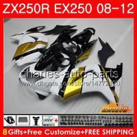 Wholesale kawasaki ninja for sale - Body For KAWASAKI NINJA EX ZX R ZX250 R EX Kit HC EX250 ZX250R golden white Fairing