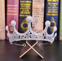 zarif partiler için saç aksesuarları toptan satış-Yeni Saç Aksesuarı düğün Tiara Gelin Taç Lüks Kristal başlıkiçi Zarif Gelin Hairband Parti Kız Balo Kraliçesi headpieces Tiara