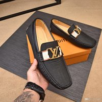 zapatos casuales para hombre al por mayor-20ss Men Luxury Shoe Groom Shoe Calzado para hombre Zapatos de vestir italianos Zapatos europeos Zapatos casuales para hombres Tap Dance Tamaño 38-45 de los hombres con caja